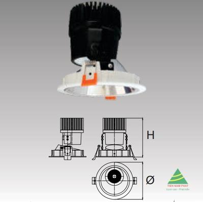 Đèn âm trần led chiếu điểm DFA411