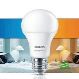 Đèn led bulb 9W 806Lm A60 Scene Switch Philips